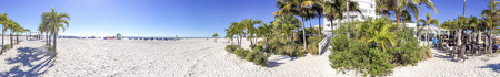 ST PETERSBURG, FL - FEBRUARY 2016: Tourists enjoy St Pete Beach. St Petersburg ia s major attraction in Florida.