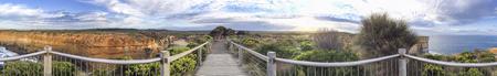 Panoramic view of Great Ocean Road viewpoint, Australia. Stock Photo