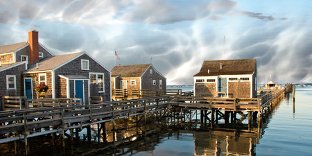 Group of Homes over the Water in Nantucket, Massachusetts