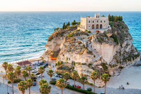 Former 4th century monastery on top of the Sanctuary of Santa Maria Island - Tropea, Calabria, Italy. Editorial