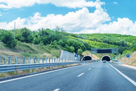 Salerno Reggio Calabria interstate highway tunnels, Italy.