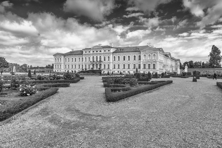 rundale: Castle and gardens of Rundale, Latvia.