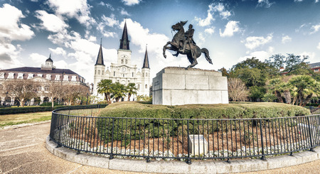 Beautiful view of Jackson Square in New Orleans, Louisiana.