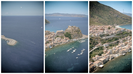 Beautiful aerial view of Scilla, Calabria - Italy.