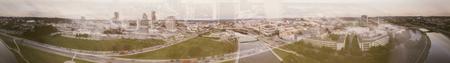 Panoramic aerial view of Vilnius skyline, Lithuania.