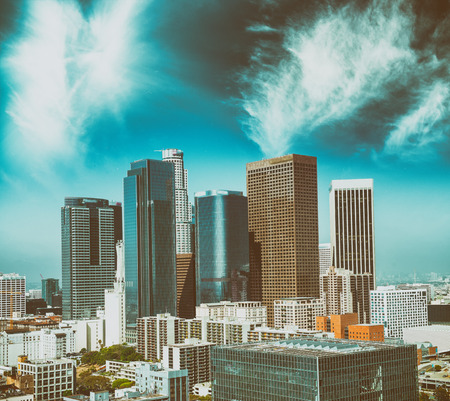Aerial view of Downtown Los Angeles.