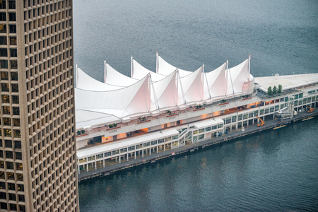 Aerial view of Canada Place, Vancouver - BC.