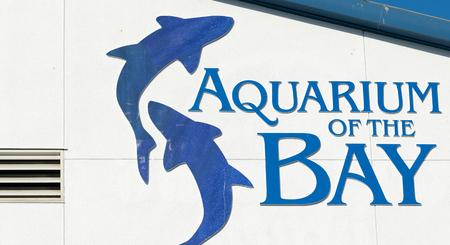 Aquarium of the bay sign in San Francisco. Éditoriale