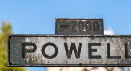 Powell Street sign in San Francisco.