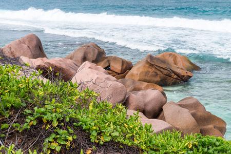 la digue: Anse Fourmis in La Digue, Seychelles.