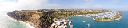 Amazing panoramic aerial view of Dana Point, California. Stock Photo