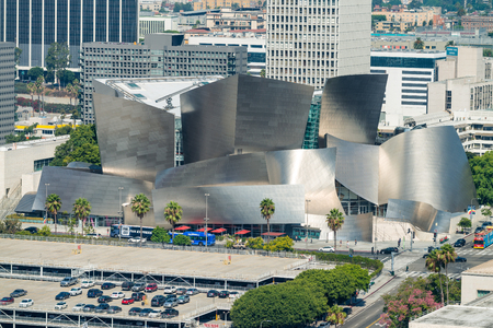 LOS ANGELES - JULY 28, 2017: The Walt Disney Concert Hall, the fourth hall of the Los Angeles Music Center, serves as home of the Los Angeles Philharmonic orchestra.