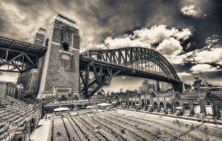 SYDNEY - OCTOBER 2015: Sydney Harbour Bridge. Sydney attracts 30 million people annually.
