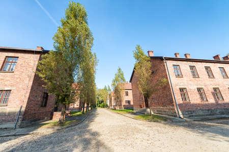 Part of Auschwitz Concentration Camp, Barracks (Poland).
