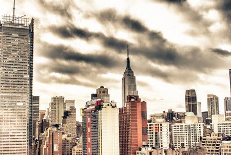 Aerial view of New York City Skyline, U.S.A.