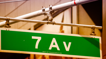 Classic Street Signs in New York City, U.S.A. Stock Photo