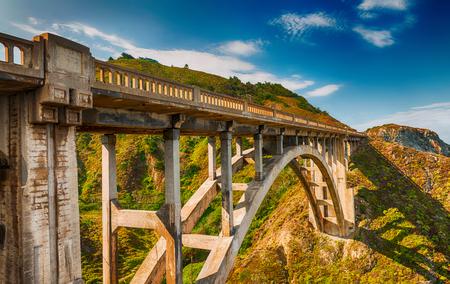 Beautiful view of Bixby Bridge in Big Sur, California.