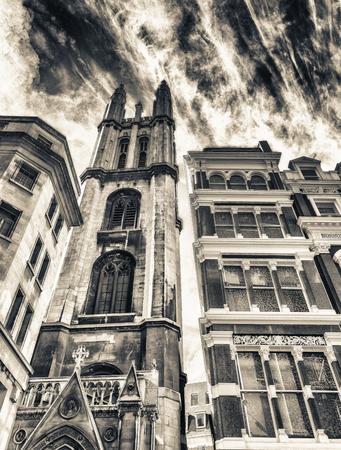 Old buildings of London, UK.