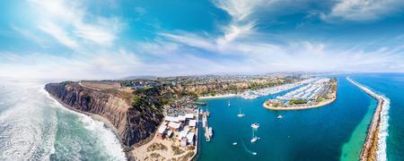 Dana Point, California. Aerial view of beautiful coastline.