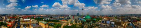 Aerial view of Berlin skyline, Germany.