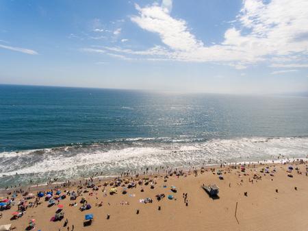 Aerial view of Santa Monica Beach, California. Stock Photo