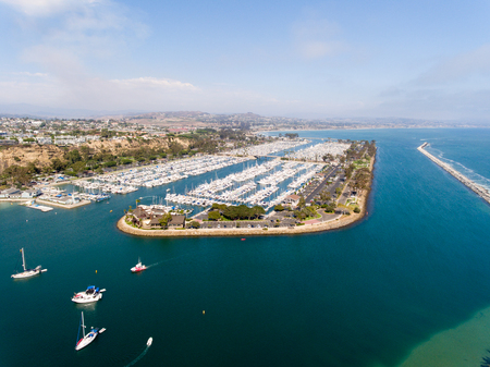 Aerial view of Dana Point, California.