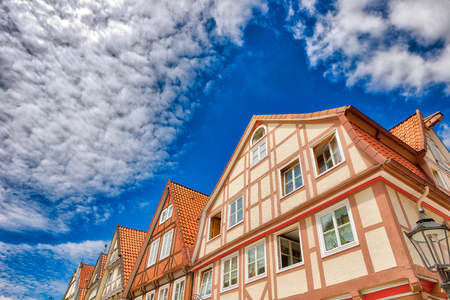 Street view of Celle skyline, Germany.