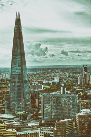 Beautiful London skyline along river Thames.