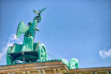 Quadriga of Brandenburg Gate, Berlin. Banque d'images