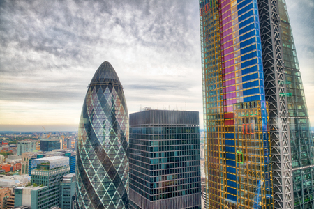 City of London. Aerial view of modern buildings. Business and corporate concept.