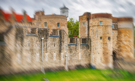 The Tower of London on a overcast day, UK.