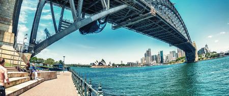 SYDNEY - OCTOBER 2015: Sydney Harbour Bridge. Sydney attracts 20 million tourists annually.