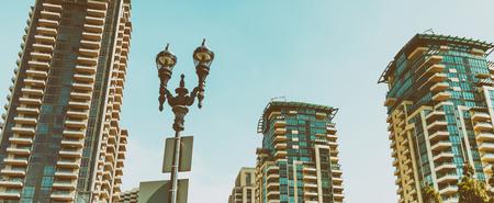 Modern buildings of San Diego skyline.