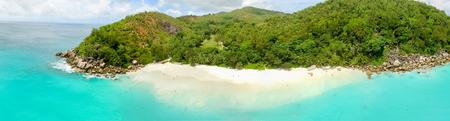Beautiful aerial view of Seychelles Island.
