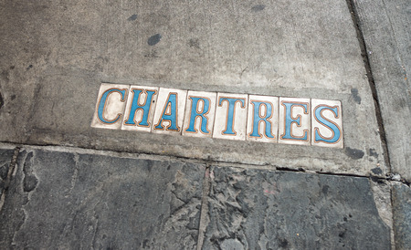 Chartres street signs in New Orleans.