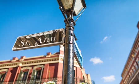 Street signs in New Orleans. Stock Photo