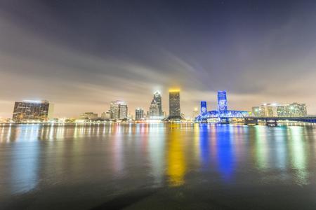 Jacksonville night skyline, Florida. Stock Photo