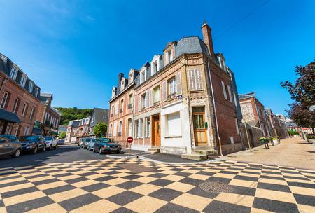 ETRETAT, FRANCE - JULY 2014: Tourists visit city center. This is a major destination in France.