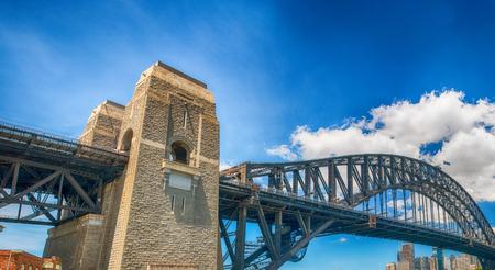 Beautiful view of Sydney Harbour Bridge on a sunny day, Australia.