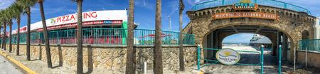 DAYTONA BEACH, FL - FEBRUARY 2016: Panoramic view of city coastline. Daytona Beach is a famous destination in Florida.
