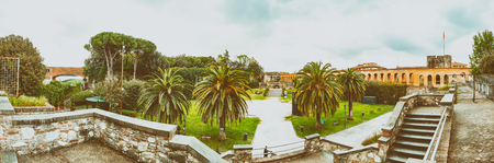 Pisa, Italy. Giardino Scotto panoramic view. Stock Photo