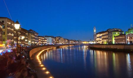 Night Show of Lights in Pisa, Italy