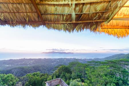 Beautiful island panorama from the hill. Stock Photo