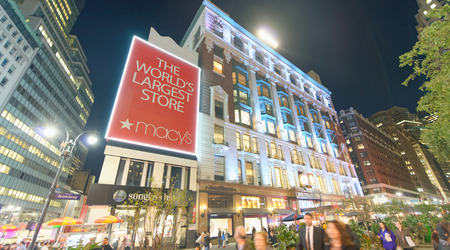 NEW YORK CITY - OCTOBER 23, 2015: Macys Herald Square store. Its the citys flagship store. Editorial