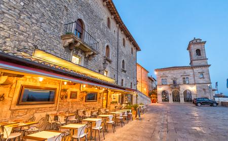 San Marino at night. Stock Photo