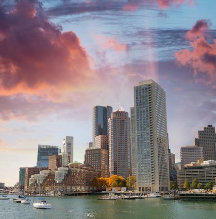 Beautiful skyline of Boston, Massachusetts. 版權商用圖片