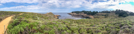 Point Lobos State Natural Reserve, California. Panoramic view of coastline..