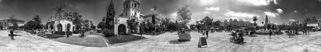 SAN DIEGO, CA - JULY 29, 2017: Panoramic view of Plaza de Panama in Balboa Park. This is a famous tourist attraction.
