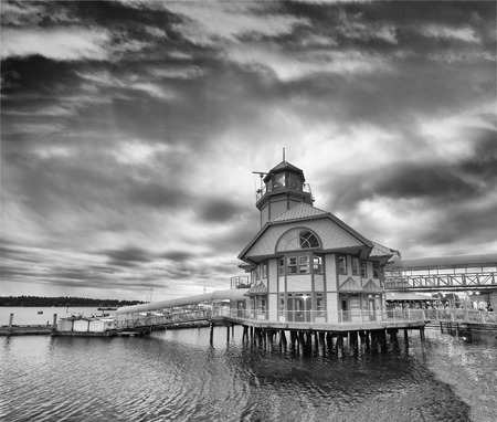 Port of Nanaimo on a cloudy summer evening, Vancouver Island.