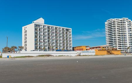 Daytona Beach and buildings, Florida. Stock Photo